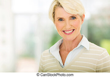 middle aged woman closeup