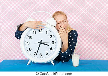 Middle aged woman with insomnia