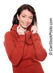 Middle aged woman with pullover