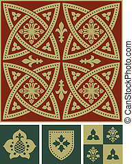 Middle ages ornament set - A set of vector ornamental...