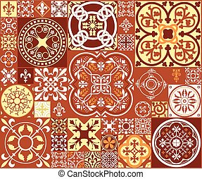 Middle Ages Square7-03 - Vector Illustration of Moroccan...