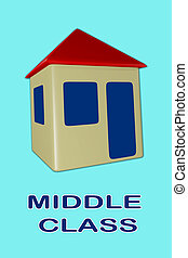 MIDDLE CLASS concept