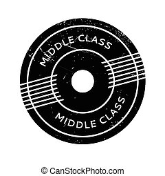 Middle Class rubber stamp. Grunge design with dust scratches. Effects can be easily removed for a clean, crisp look. Color is easily changed.