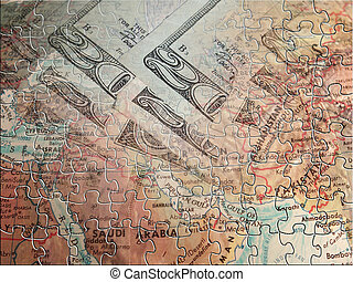 Middle east and US currency Puzzle
