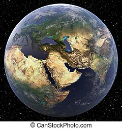 Middle East -  Earth from Space