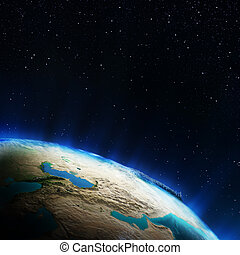 Middle East. Elements of this image furnished by NASA
