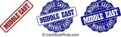 MIDDLE EAST Grunge Stamp Seals