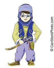 is one example of the middle east design character for children's books