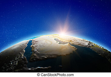 Middle East, Saudi Arabia from space