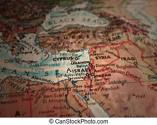 Middle East - Selective focus on middle east