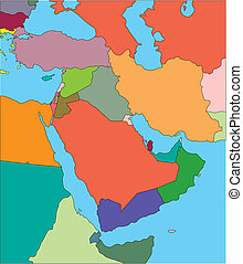 Middle East with Editable Countries - Middle East Regional...