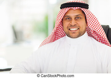 middle eastern businessman close up