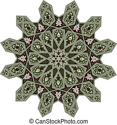 Arabic middle eastern floral pattern motif, based on Arabian ornament