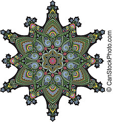 Middle eastern floral pattern motif - Arabic middle eastern...
