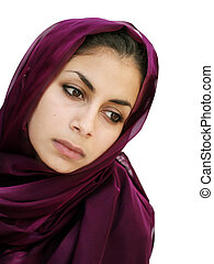 Middle eastern girl - Middle eastern beauty in a scarf...