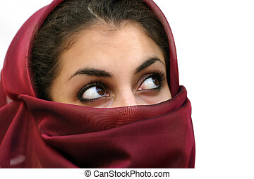 Middle eastern girl - Middle eastern beauty in a scarf ...