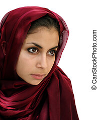 Middle eastern girl - Middle eastern beauty in a scarf