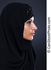middle eastern woman head shot