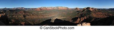 Middle Mesa panorama - Scenic panorama of the Sedona area...