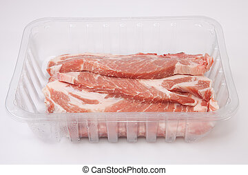 Middle rib chops of pork