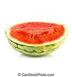 Middle watermelon isolated over white background