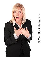 middleaged, affaires femme, surpris