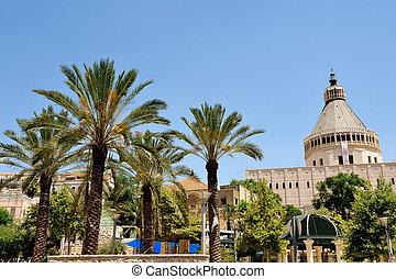 Basilica of the Annunciation in Nazareth, Israel.