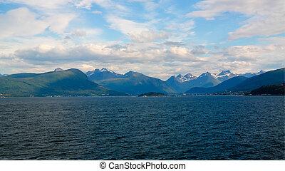 midfjorden, molde, islas, seteroya, noruega, sekken, paisaje