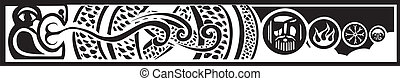 Midgard Serpent - Image of the Viking Pagan Midgard serpent...