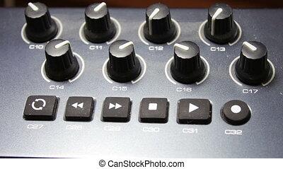 midi, ręka, syntezator, samica, klawiatura, melodie