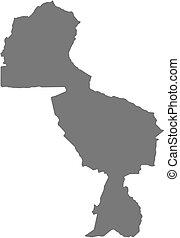 midlands, 地図, (zimbabwe), -