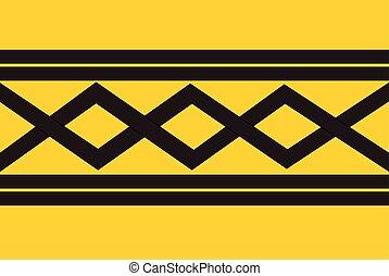 midlands, 西, 旗