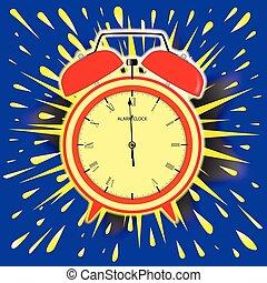 Midnight Alarm Clock - Abstract cartoon bubble explosion...