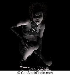 Midnight Avenger #01 - Vampire girl at the graveyard...