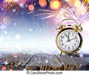 Midnight Celebration, Clock On table - Midnight Celebration...