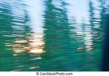 Midnight sun speed blur