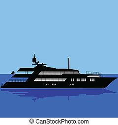 midst, vecteur, yacht