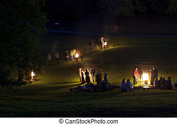 Midsumer or John's eve celebration in Latvia