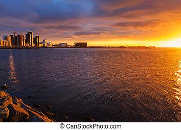 midsummer, reykjavik, coucher soleil