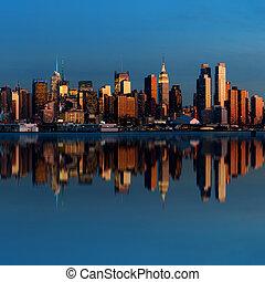 midtown, 地平線, 曼哈頓