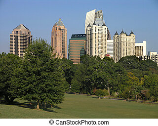 Midtown Atlanta Piedmont - Midtown Atlanta as seen from...