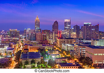 Atlanta, Georgia, USA midtown skyline.