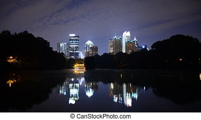 Midtown Atlanta Skyline - Piedmont Park in Midtown Atlanta,...