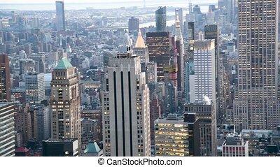 Midtown Manhattan aerial view, New York
