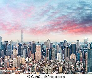 Midtown Manhattan, aerial view of NYC