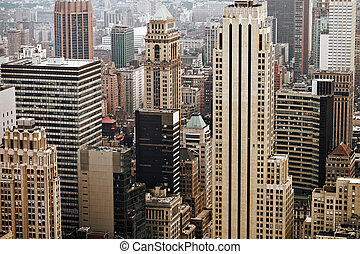 Midtown Manhattan - Skyscrapers on Manhattan. Midtown,...
