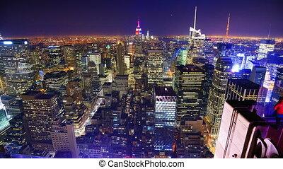 Midtown Manhattan Time Lapse - Time lapse of landmark...