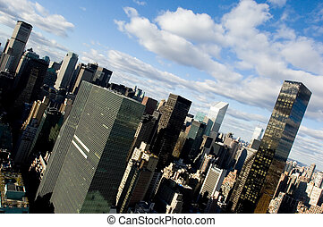 Angle view of midtown Mantatten, New York