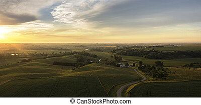 Midwest Aerial Dawn