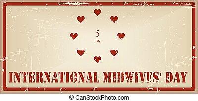 midwives, vindima, bandeira, dia, internacional